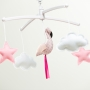 Mobile Flamand rose pastel