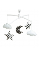 Black and white moon and stars mobile