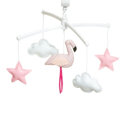 Pastel pink flamingo mobile
