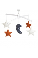 navy ginger moon and stars mobile