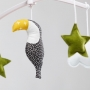 Black and green Toucan  mobile
