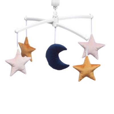 peacock blue moon and stars mobile