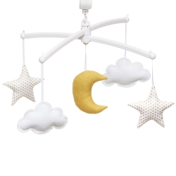 Gold moon and stars mobile little dots