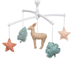 pink and green musical mobile fawn